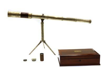 Lot 54 - A 19th century tripod telescope