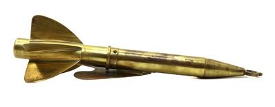 Lot 101 - A brass harpoon ship log by T Walker