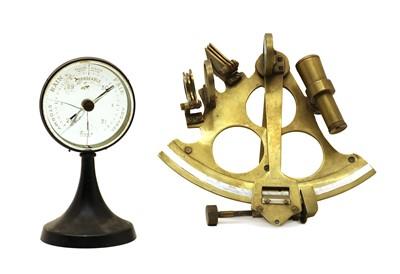Lot 83 - A brass sextant