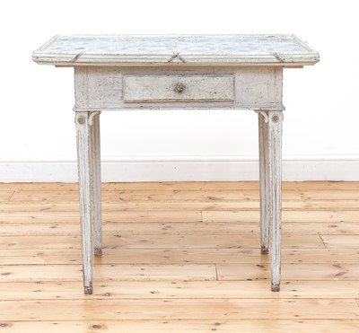 Lot 157 - A Danish white-painted tile-top table