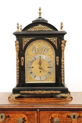 Lot 426 - A George III-style ebonised and gilt-mounted bracket clock