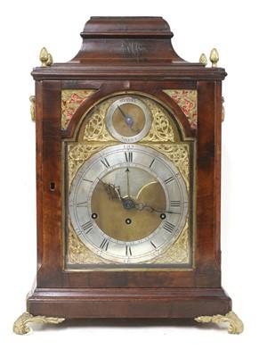 Lot 168 - A George III mahogany musical bracket clock