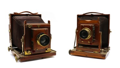 Lot 98 - Two Thornton Pickard patent mahogany bellow plate cameras