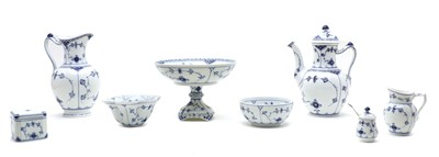 Lot 93 - A collection of Royal Copenhagen 'Blue Fluted Full Lace' pattern porcelain