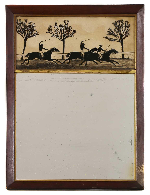 Lot 98 - A mahogany-framed wall mirror