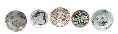 Lot 86 - A late 19th/early 20th century famille rose plate
