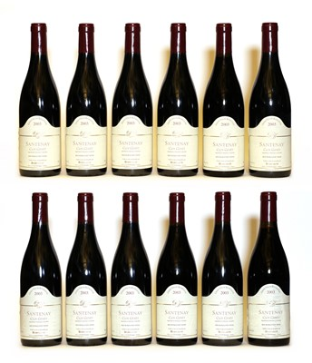Lot 49 - Santenay, 1er Cru, Clos Genet, Domaine Borgeot, 2003, twelve bottles (boxed)