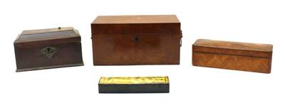 Lot 75 - An early 20th century Kingwood glove box