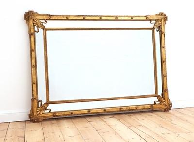 Lot 488 - A giltwood mirror