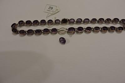 Lot 62 - A late Victorian graduated amethyst rivière necklace