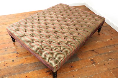 Lot 487 - A large rectangular footstool