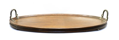 Lot 76 - A large 19th century oak butler's tray