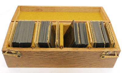 Lot 70 - A collection of various magic lantern slides