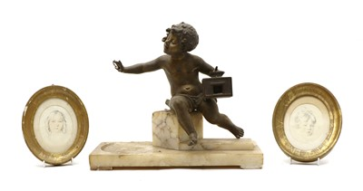 Lot 91 - A faux bronze model of a young boy
