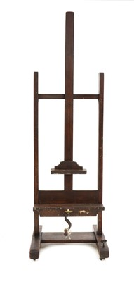 Lot 432 - A stained beech adjustable artist's easel