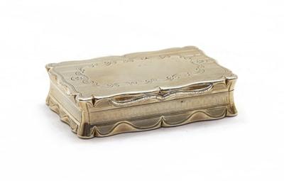 Lot 48 - A Victorian silver box