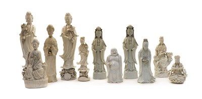 Lot 94 - A collection of Chinese blanc de Chine figures