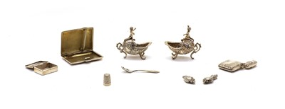 Lot 50 - Small silver items