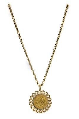 Lot 1089 - A George V sovereign pendant