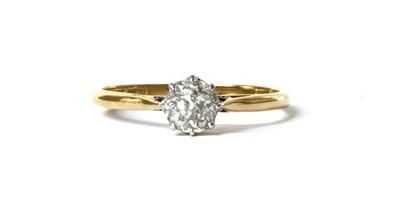 Lot 43 - A gold single stone diamond ring