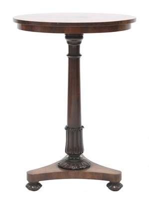Lot 136 - A William IV rosewood occasional table