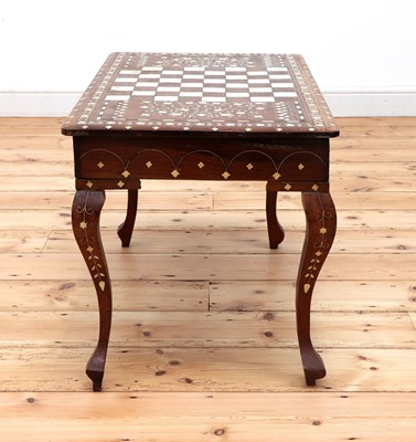 Lot 90 - An Indian low games table