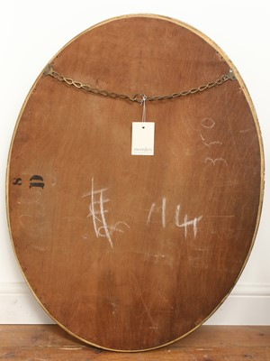 Lot 87 - A George III-style oval wall mirror with mirrored slip