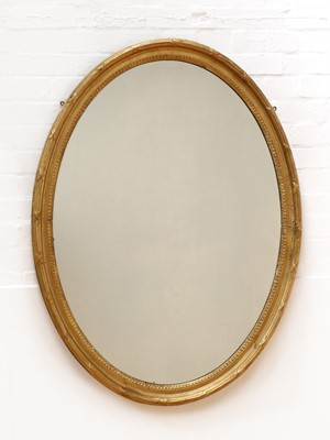 Lot 183 - A George III-style oval wall mirror