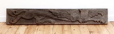 Lot 538 - A pair of rectangular oak panels