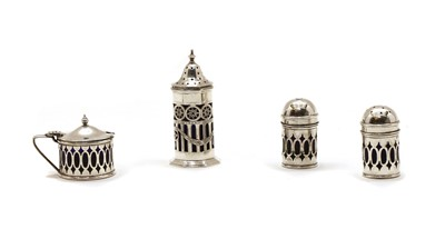 Lot 45A - A collection of silver table items