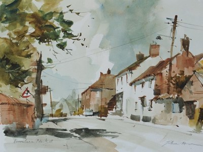 Lot 21 - A watercolour painting by John Hoar of the winner's house