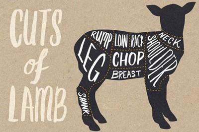 Lot 32 - Half a butchered lamb