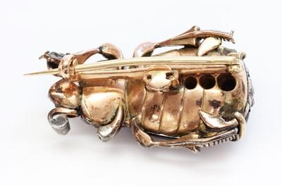 Lot 37 - A former Austro-Hungarian garnet and diamond beetle brooch, c.1870