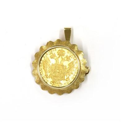 Lot 1095 - An Austrian ducat coin brooch/pendant