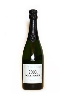 Lot 15 - Bollinger, 2003 by Bollinger, Ay, 2003, one bottle
