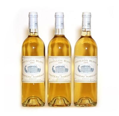 Lot 27 - Pavillon Blanc du Chateau Margaux, Margaux, 1995, 1 bottle and 1997, 2 bottles, 3 bottles in total