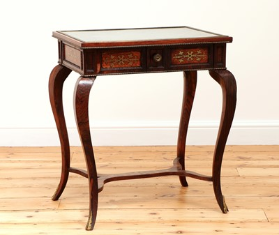 Lot 176 - A Regency rosewood and brass inlaid occasional table