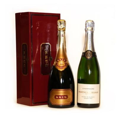 Lot 22 - Krug, Grand Cuvee, Reims, NV and Fortnum and Mason, Blanc de Blancs Grand Cru, NV, one bottle each