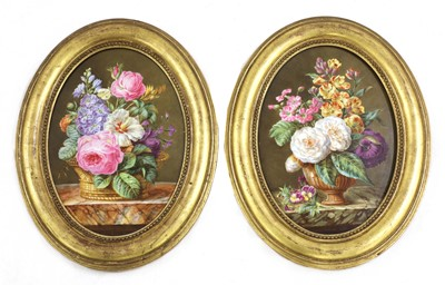 Lot 166 - A pair of French porcelain plaques