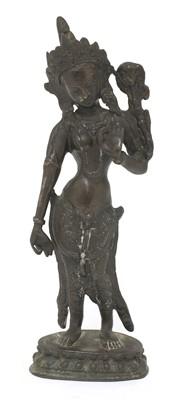 Lot 135 - A Sino-Tibetan bronze