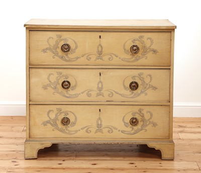 Lot 139 - A painted chest of drawers