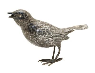Lot 25 - A continental silver bird