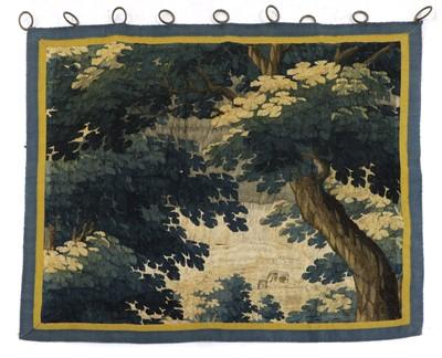 Lot 456 - A verdure tapestry fragment