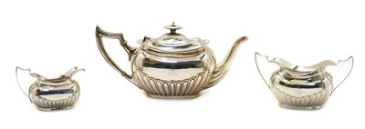 Lot 1 - A Victorian silver three piece tea set