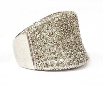 Lot 77 - A white gold diamond ring