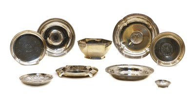 Lot 18 - A quantity of various silver and white metal pin dishes