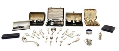 Lot 15 - Two cased silver cruets