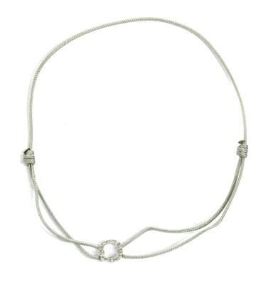 Lot 75 - A white gold diamond cordette bracelet