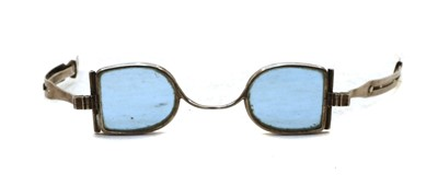 Lot 21 - A pair of early Victorian silver spectacles