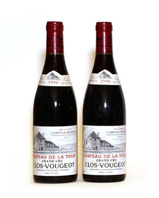 Lot 62 - Clos-Vougeot, Grand Cru, Chateau de la Tour, 1990, two bottles